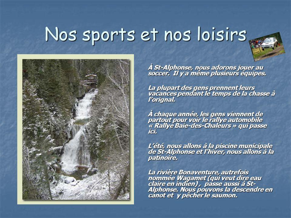 Nos sports et nos loisirs