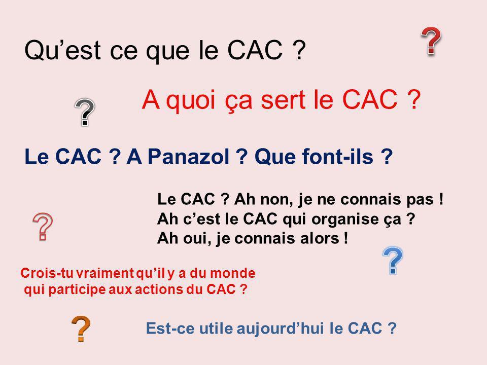 Qu'est ce que le CAC A quoi ça sert le CAC