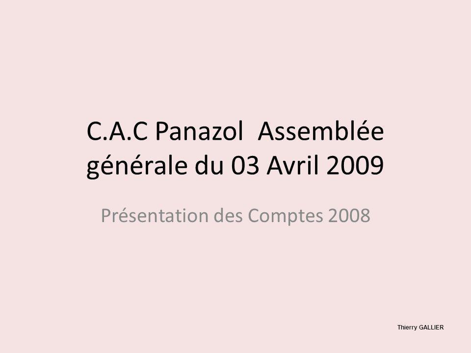 C.A.C Panazol Assemblée générale du 03 Avril 2009