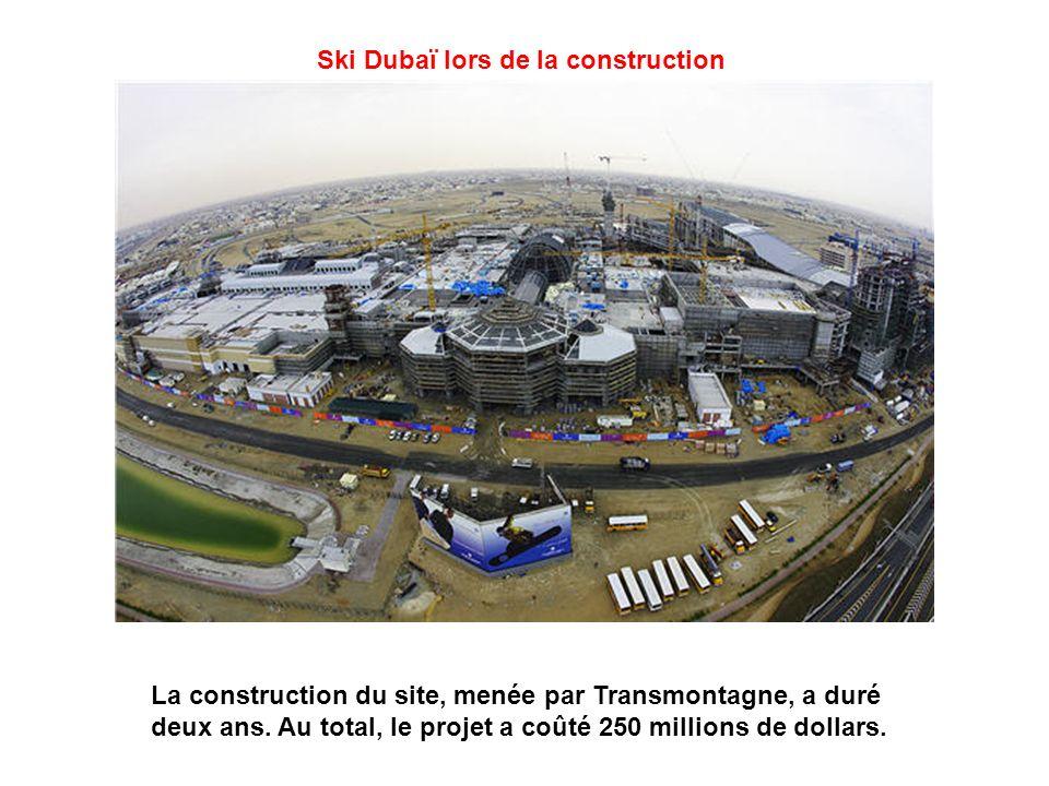 Ski Dubaï lors de la construction