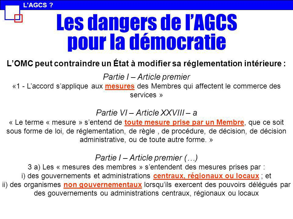 Les dangers de l'AGCS pour la démocratie
