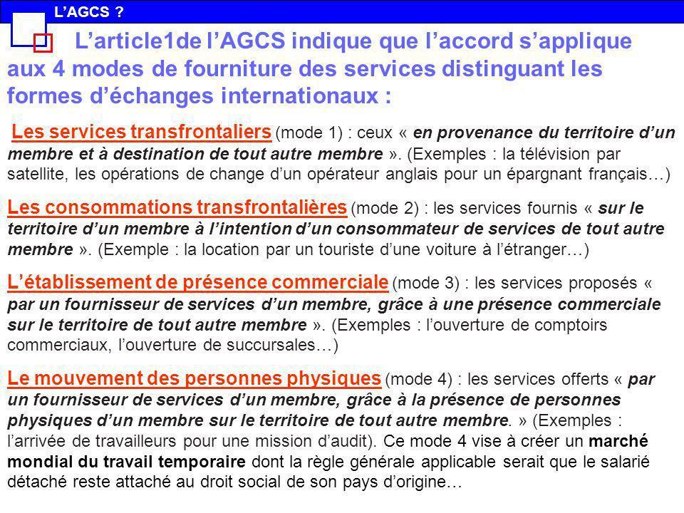L'AGCS