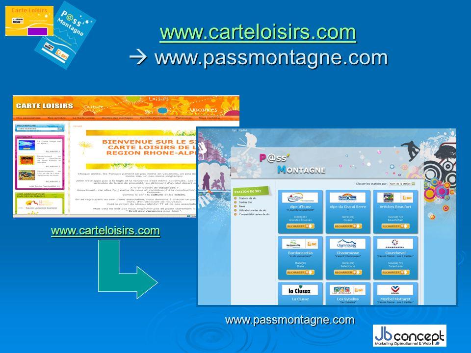 www.carteloisirs.com  www.passmontagne.com