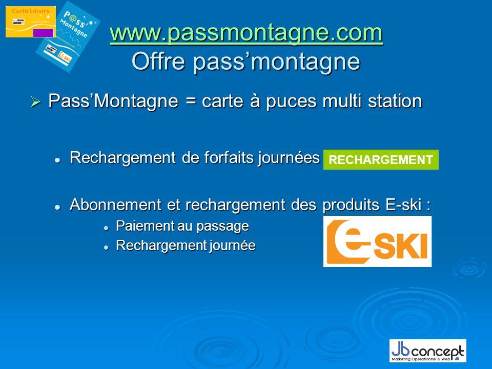 www.passmontagne.com Offre pass'montagne