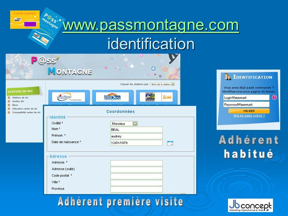 www.passmontagne.com identification