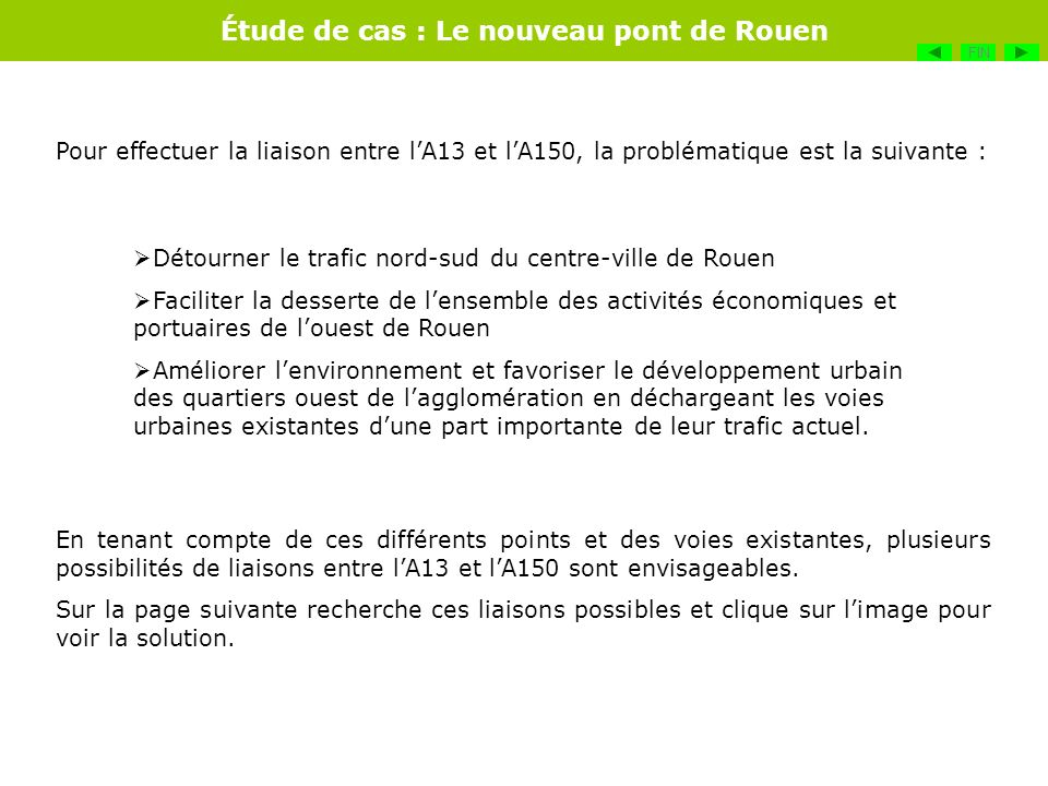 Détourner le trafic nord-sud du centre-ville de Rouen