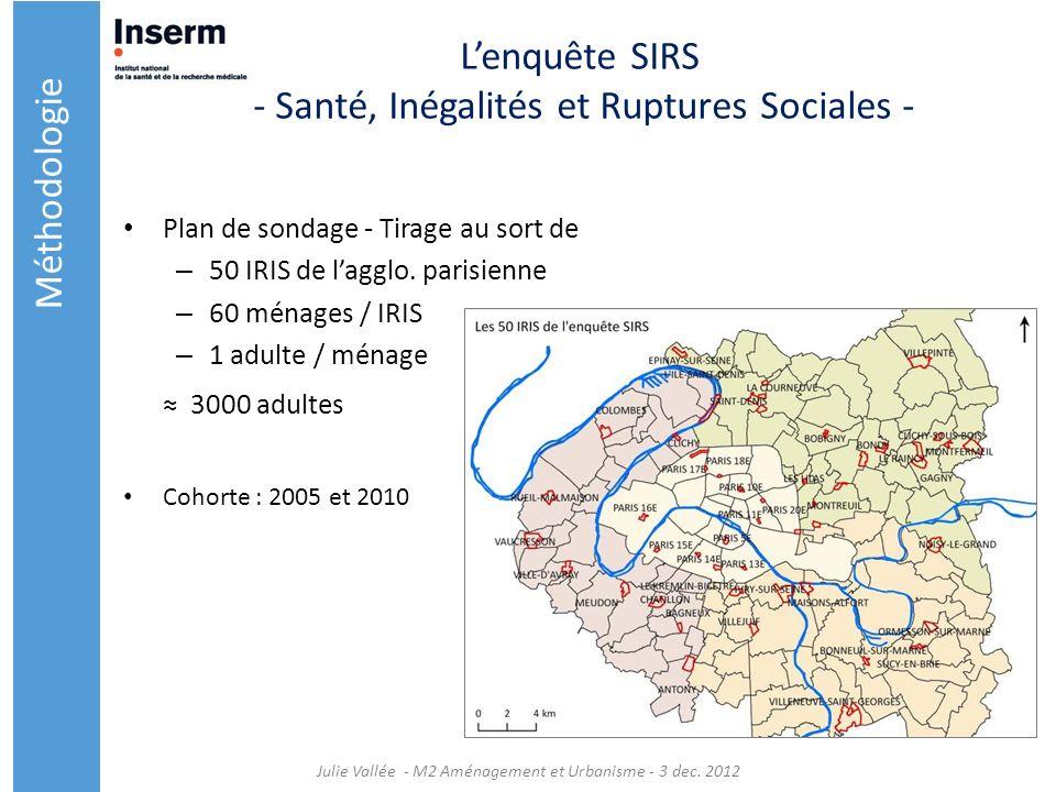 L'enquête SIRS - Santé, Inégalités et Ruptures Sociales -