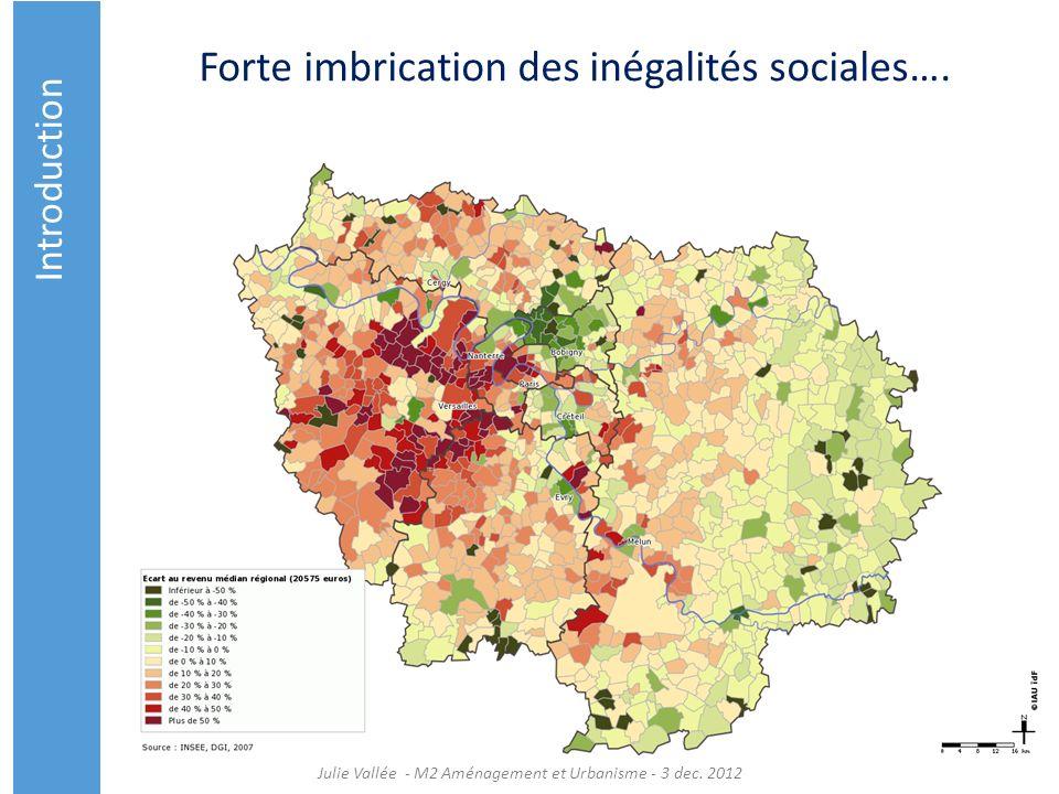 Forte imbrication des inégalités sociales….