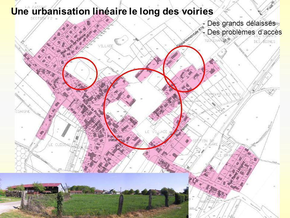 Une urbanisation linéaire le long des voiries