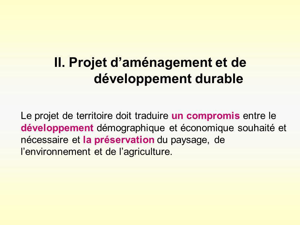 II. Projet d'aménagement et de développement durable