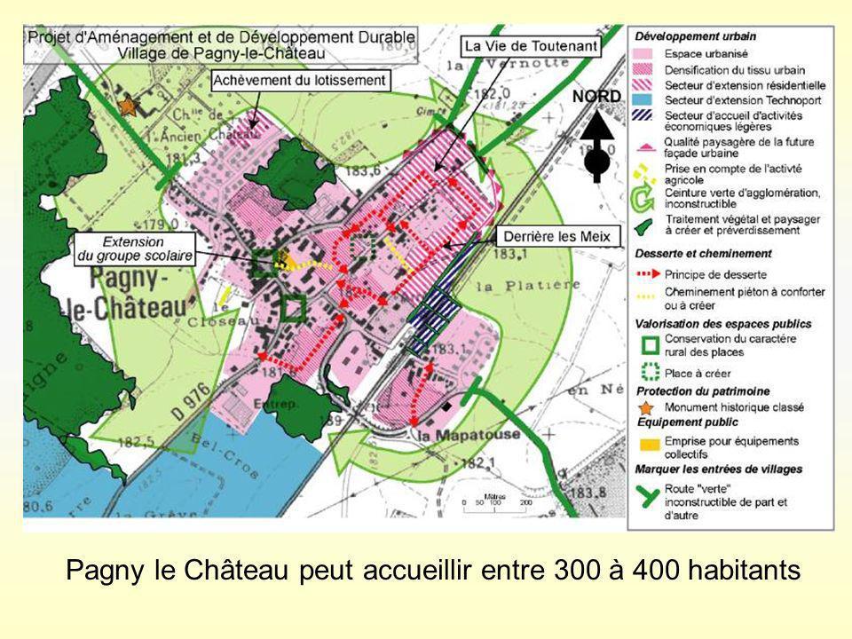 Pagny le Château peut accueillir entre 300 à 400 habitants
