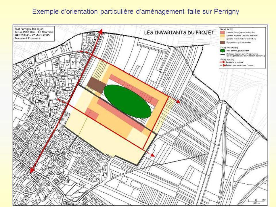 Exemple d'orientation particulière d'aménagement faite sur Perrigny