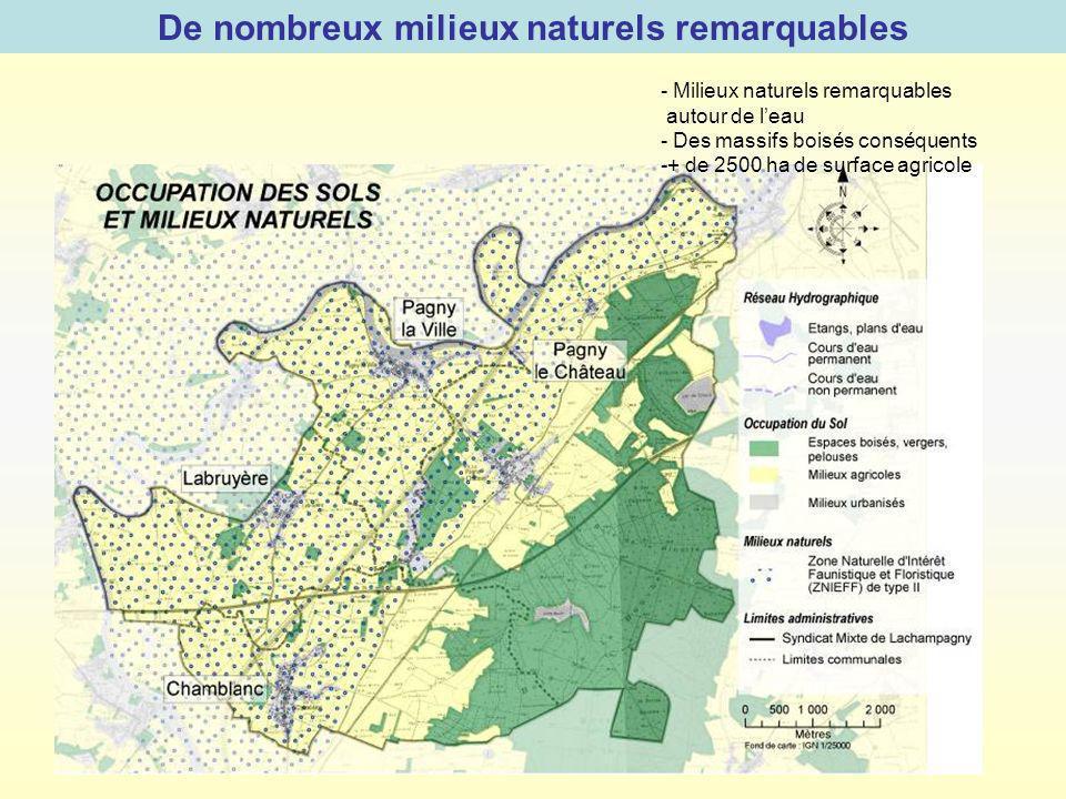 De nombreux milieux naturels remarquables