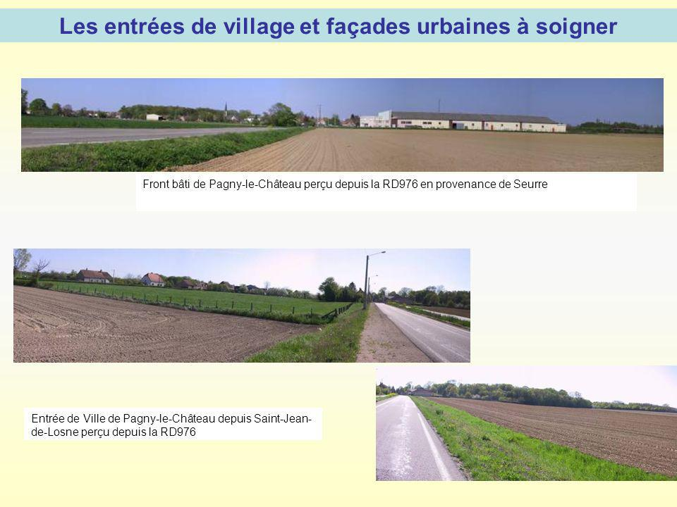 Les entrées de village et façades urbaines à soigner