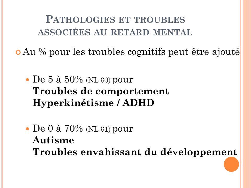 Pathologies et troubles associées au retard mental