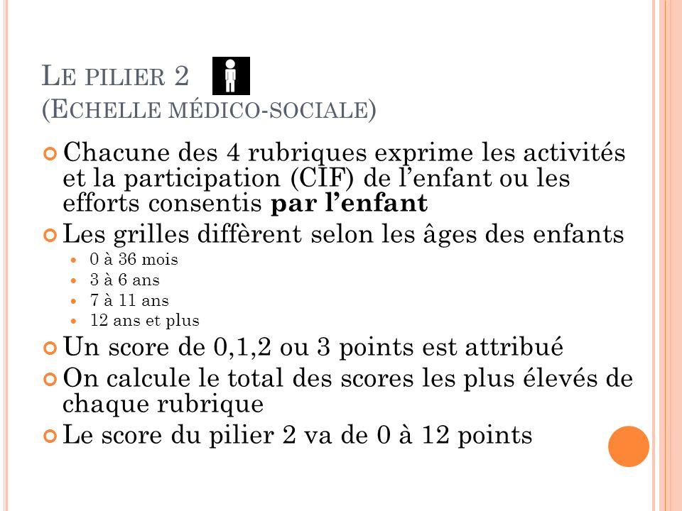 Le pilier 2 (Echelle médico-sociale)