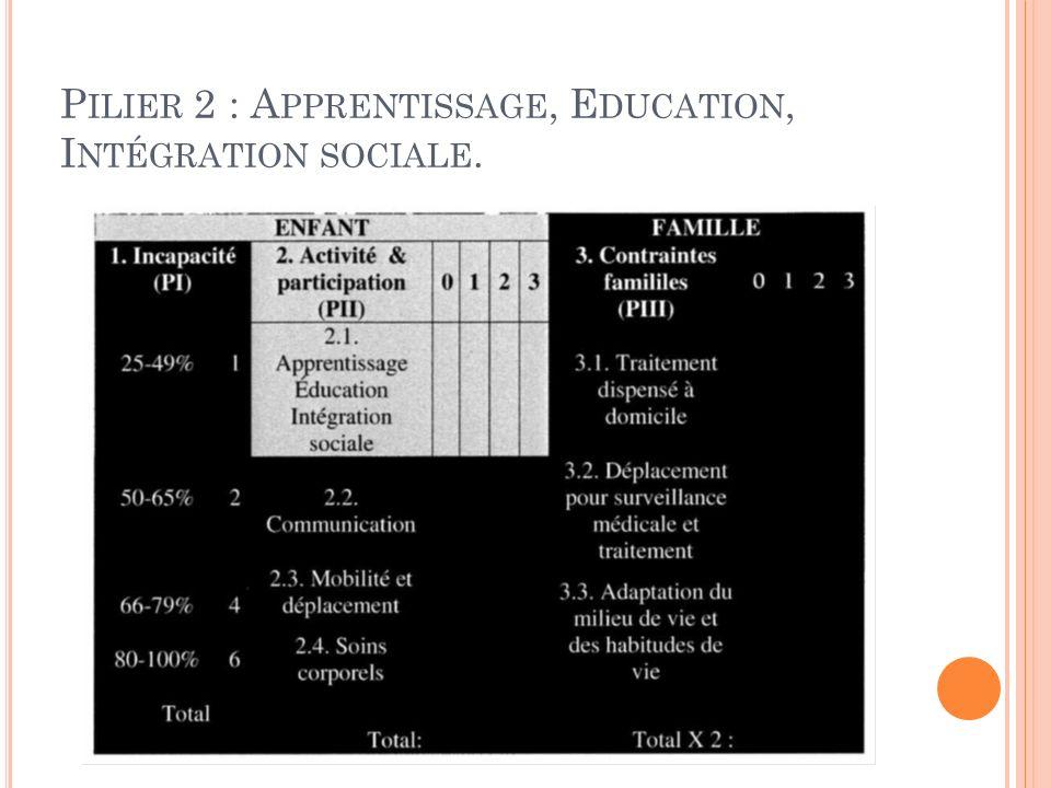 Pilier 2 : Apprentissage, Education, Intégration sociale.