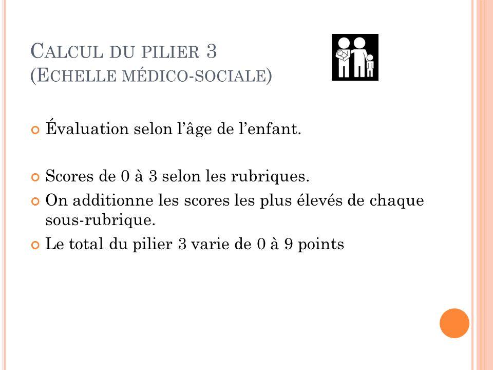 Calcul du pilier 3 (Echelle médico-sociale)