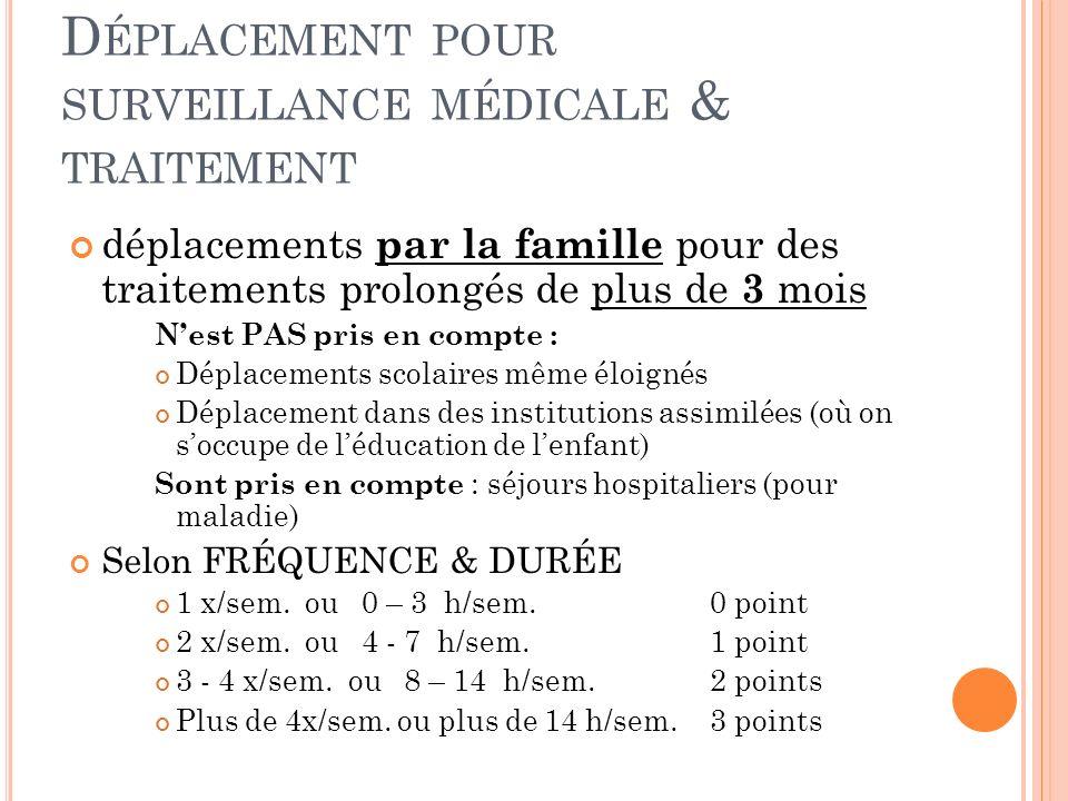 Déplacement pour surveillance médicale & traitement