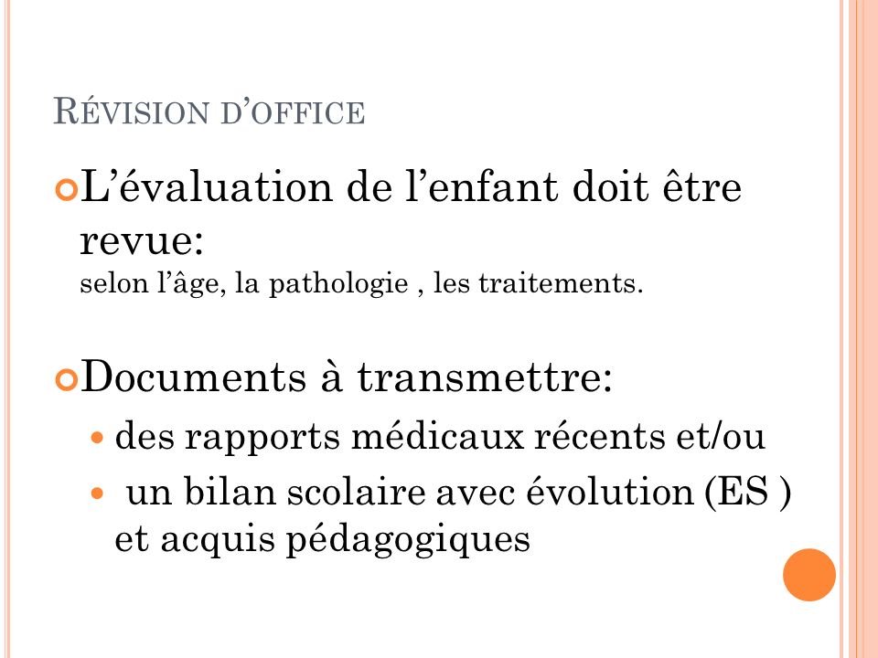 Documents à transmettre: