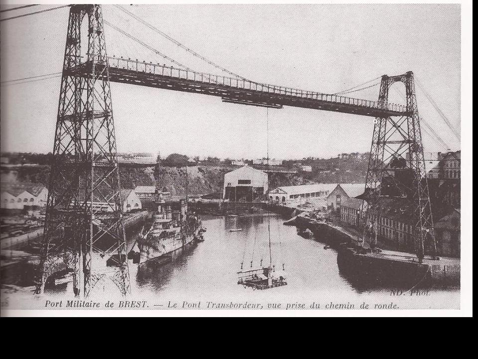 Pont transbordeur a la place du pont de l'Arteloire