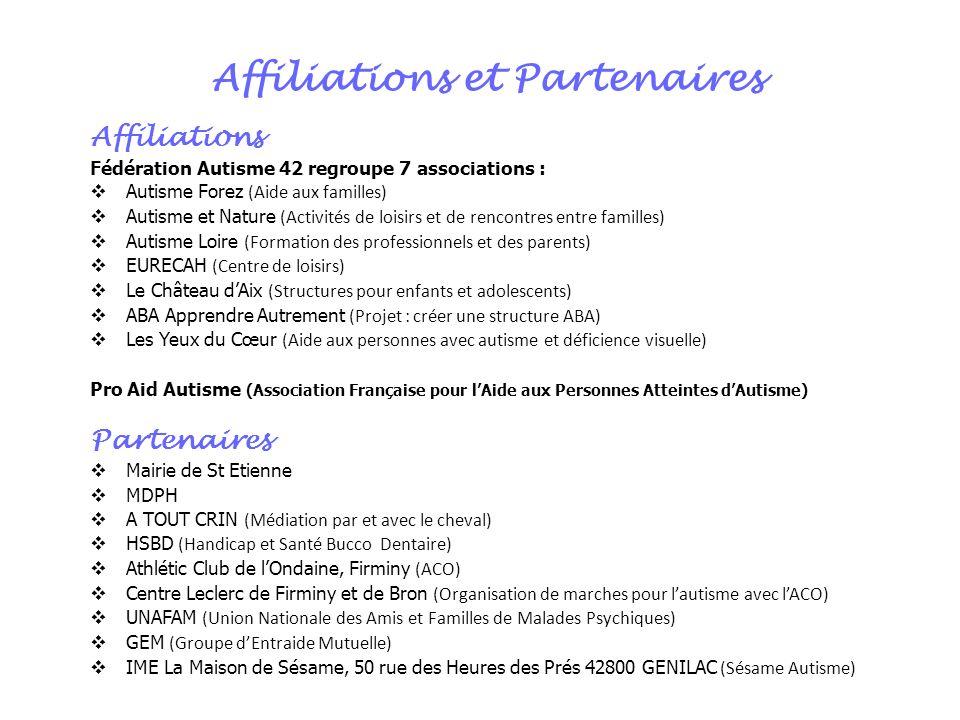 Affiliations et Partenaires