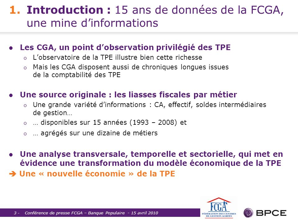 1. Introduction : 15 ans de données de la FCGA, une mine d'informations