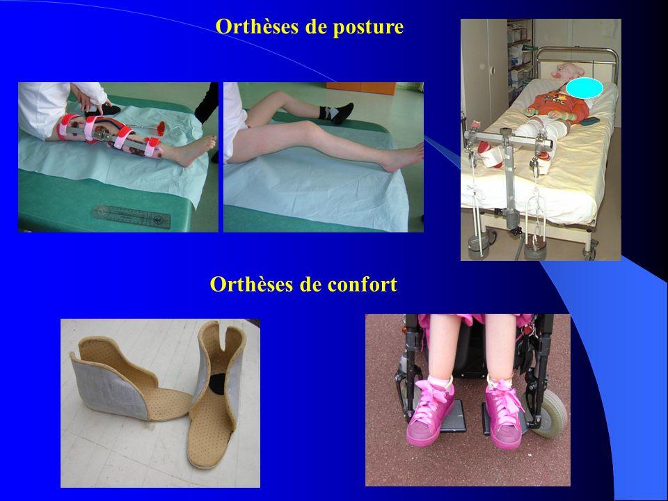 Orthèses de posture Orthèses de confort