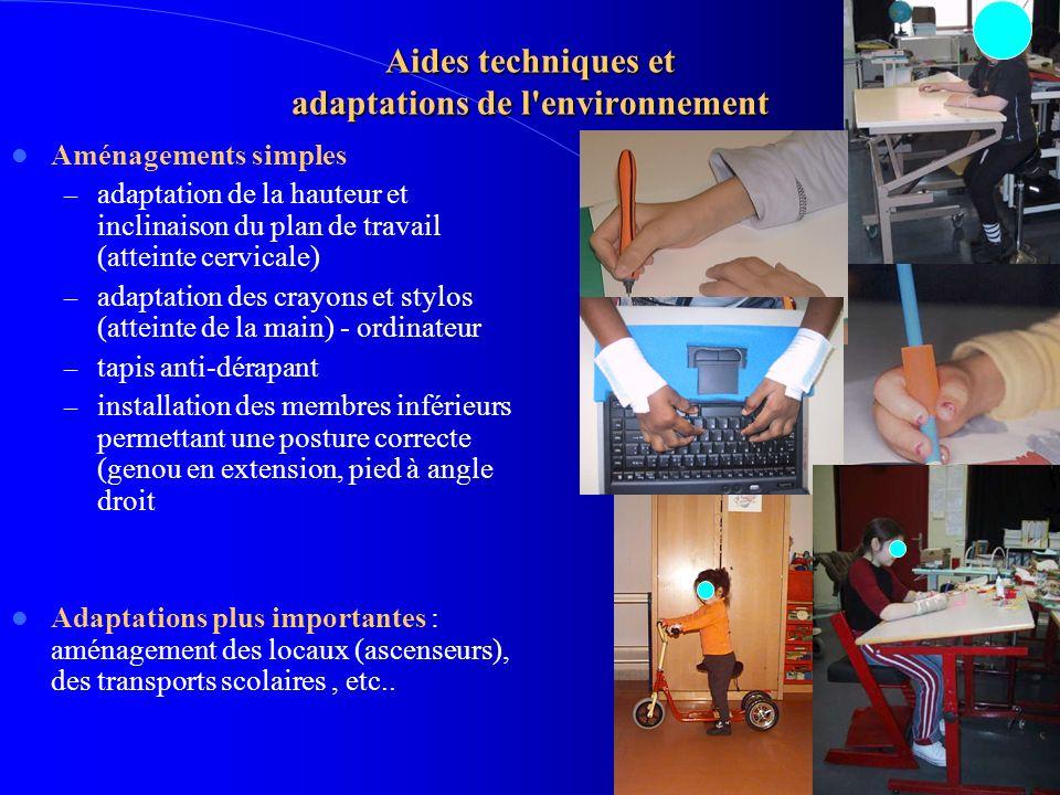 Aides techniques et adaptations de l environnement