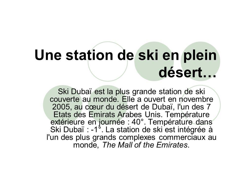 Une station de ski en plein désert…