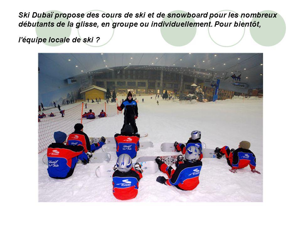 Ski Dubaï propose des cours de ski et de snowboard pour les nombreux débutants de la glisse, en groupe ou individuellement.