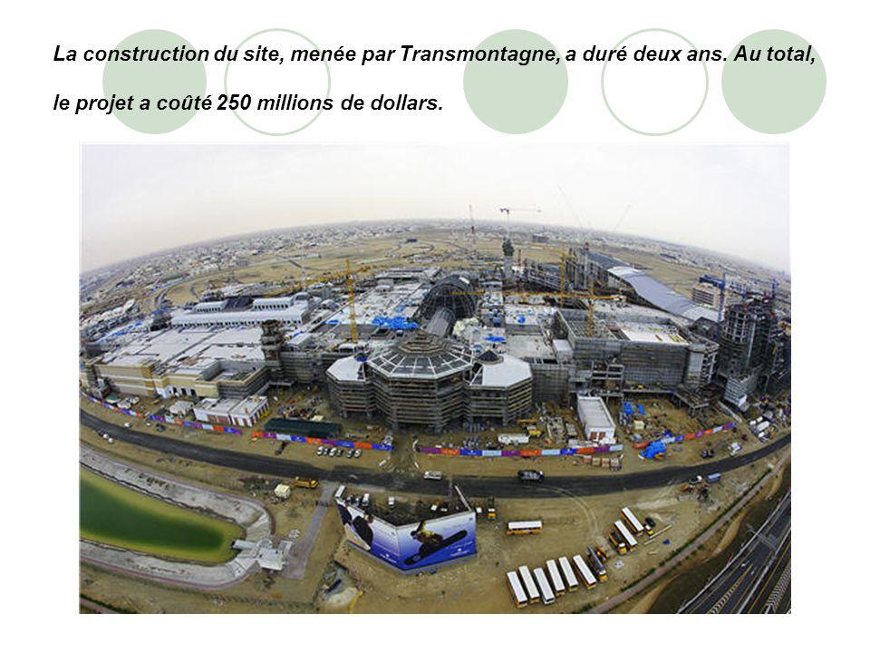 La construction du site, menée par Transmontagne, a duré deux ans