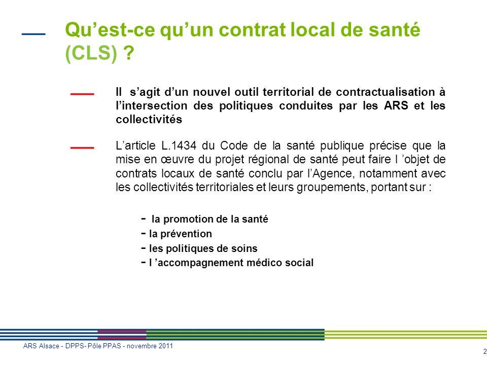 Qu'est-ce qu'un contrat local de santé (CLS)