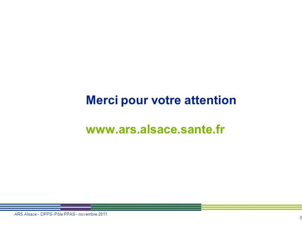 Merci pour votre attention www.ars.alsace.sante.fr
