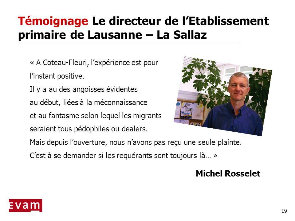 Témoignage Le directeur de l'Etablissement primaire de Lausanne – La Sallaz