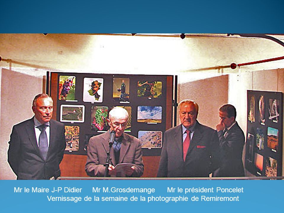 Vernissage de la semaine de la photographie de Remiremont