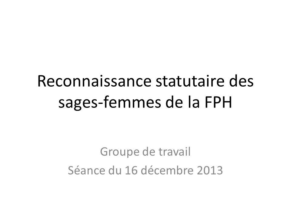 Reconnaissance statutaire des sages-femmes de la FPH