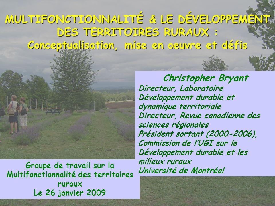 Groupe de travail sur la Multifonctionnalité des territoires ruraux