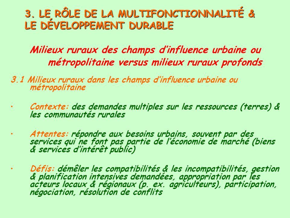 3. LE RÔLE DE LA MULTIFONCTIONNALITÉ & LE DÉVELOPPEMENT DURABLE