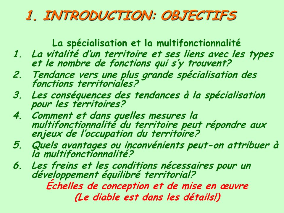 1. INTRODUCTION: OBJECTIFS
