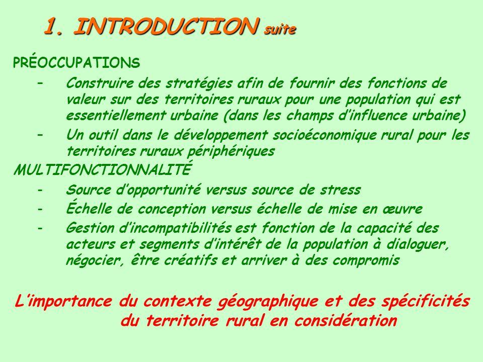 1. INTRODUCTION suitePRÉOCCUPATIONS.