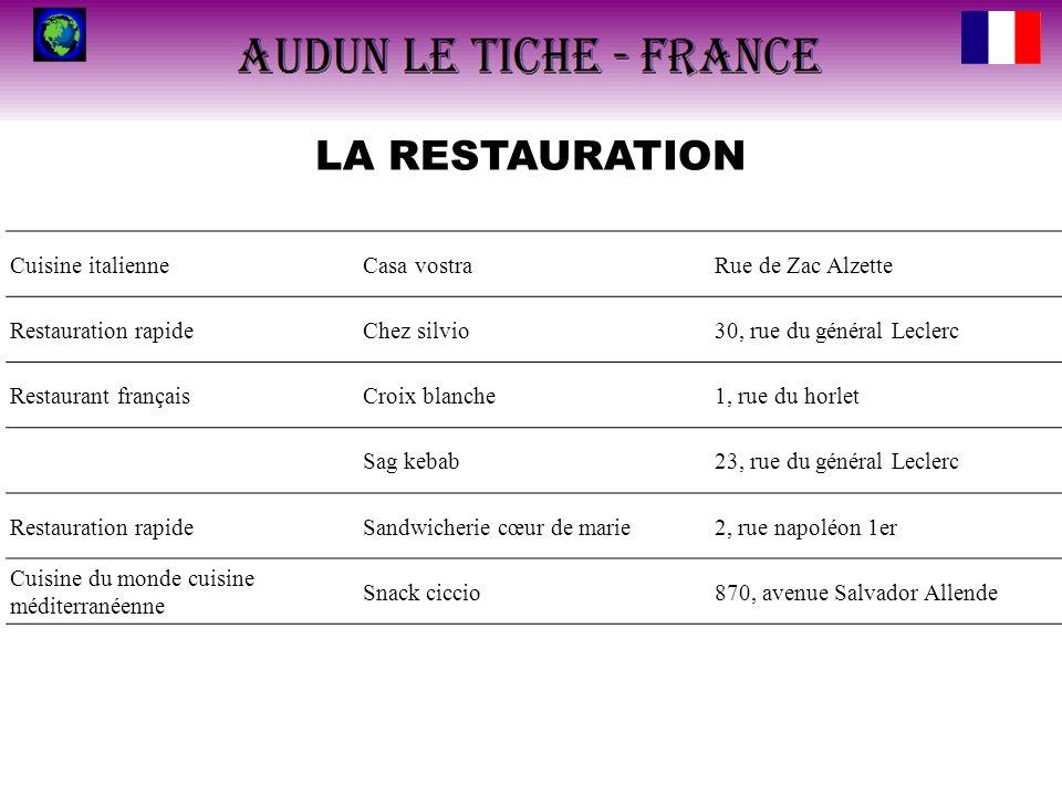 LA RESTAURATION Cuisine italienne Casa vostra Rue de Zac Alzette