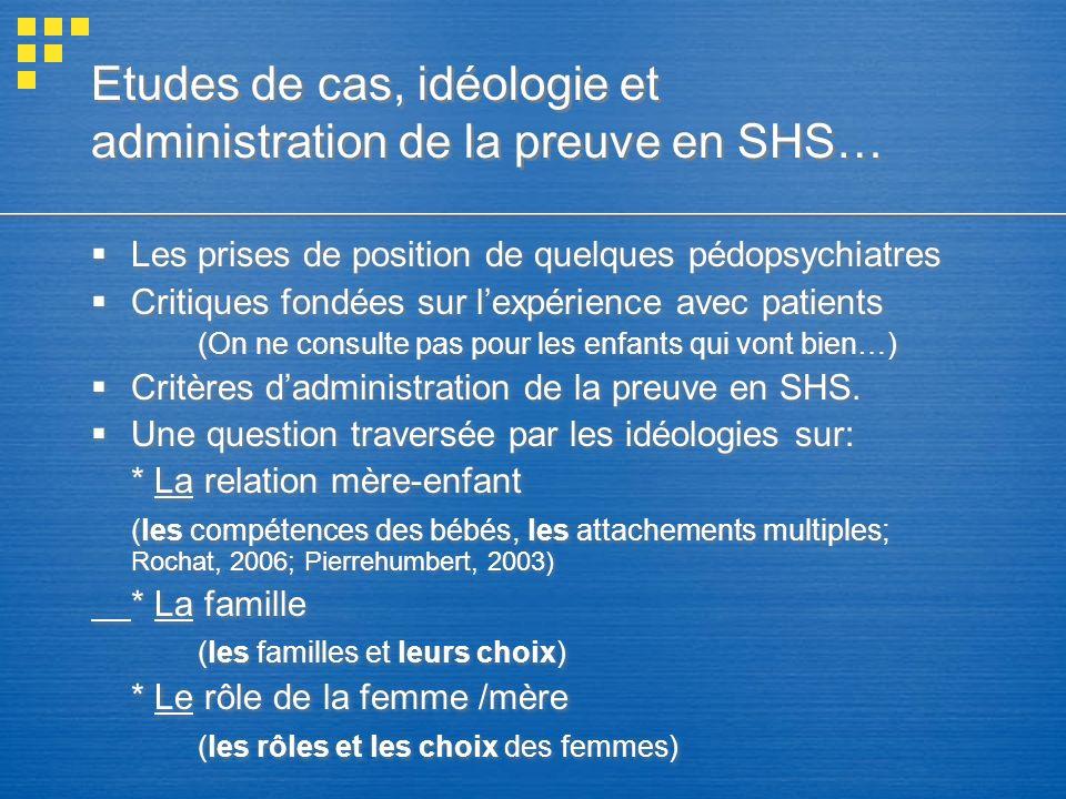Etudes de cas, idéologie et administration de la preuve en SHS…