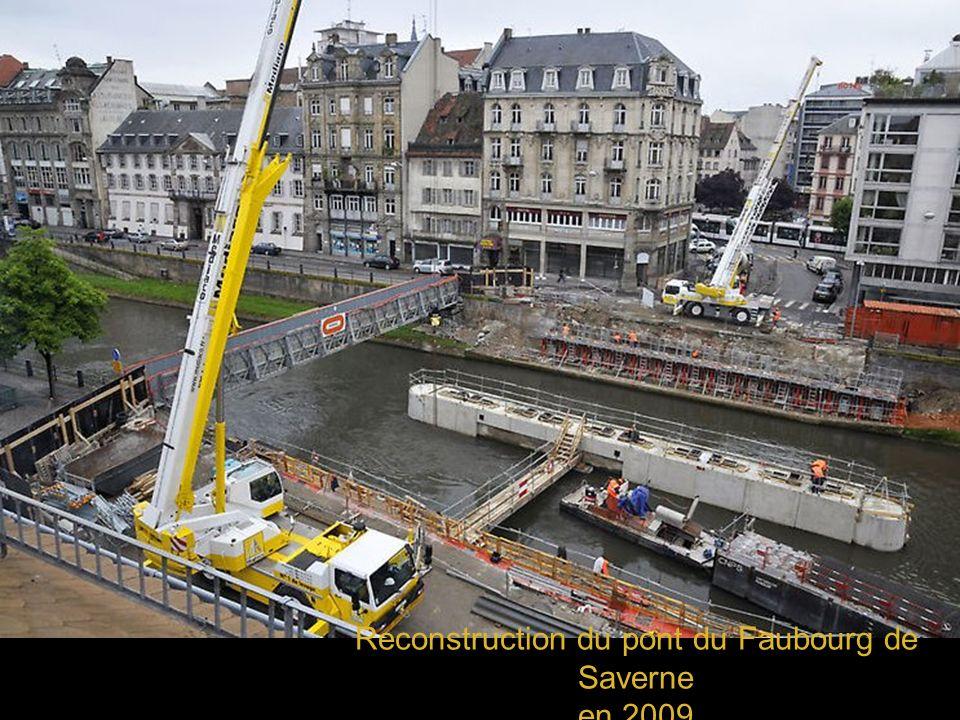 Reconstruction du pont du Faubourg de Saverne