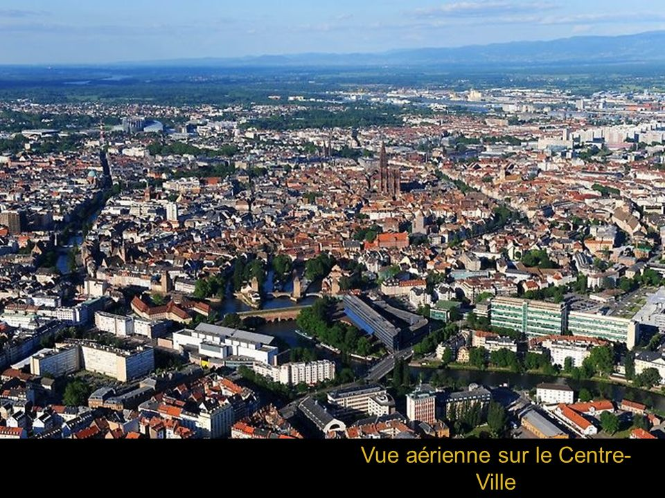 Vue aérienne sur le Centre-Ville