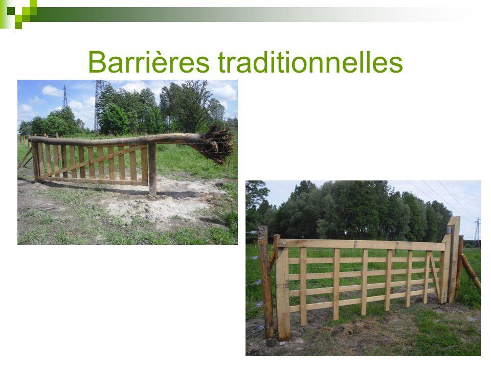 Barrières traditionnelles