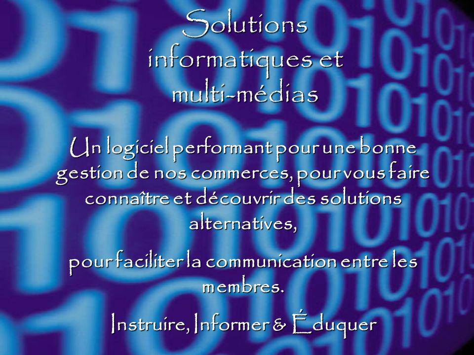 Solutions informatiques et multi-médias