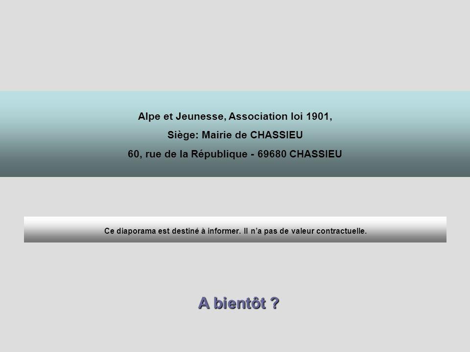 A bientôt Alpe et Jeunesse, Association loi 1901,