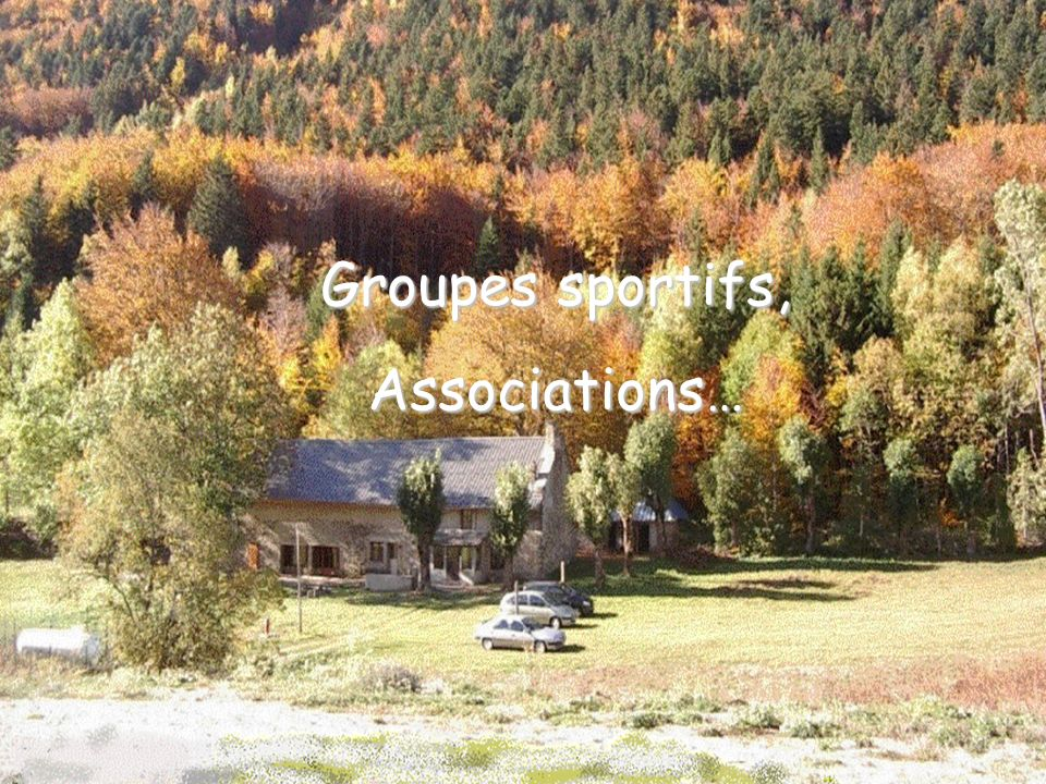 Groupes sportifs, Associations…