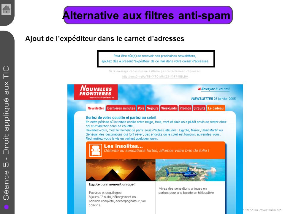 Alternative aux filtres anti-spam